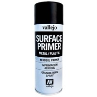 Vallejo Surface Primer - Black 400 ml.